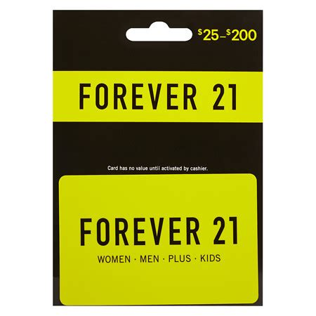 Forever 21 Gift Card Locations - forever 21 non denominational gift card walgreens