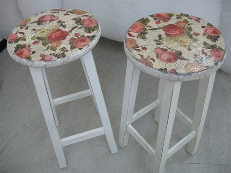 Decoupage Stool - decoupage stools for the home decoupage