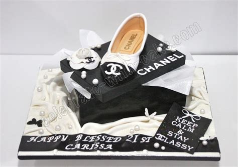 Happy 50th Birthday Chanel Shoes by Celebrate With Cake Chanel Ballet Shoe Cake