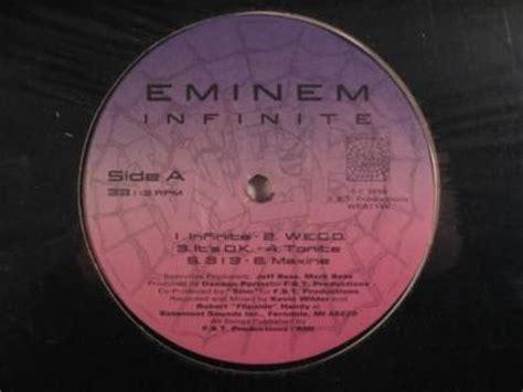 eminem infinite lyrics eminem infinite album images