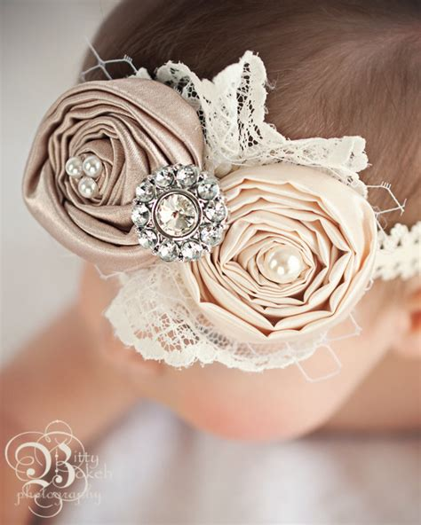 newborn headband baby headband vintage inspired hair bow