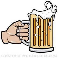 Beer Mug Ornament Hand Holding Beer Mug Vector Image 123freevectors