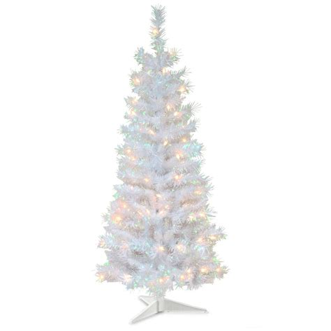 national tree company 4 ft white iridescent tinsel