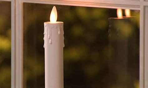 luminara brass finish set of 2 flameless window candles 13