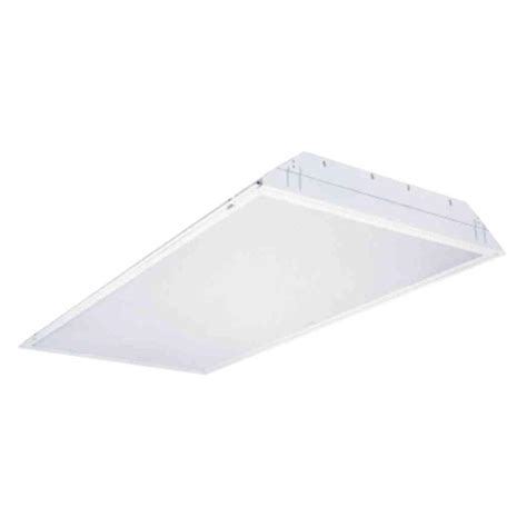 2 X 4 Ceiling Light Lithonia Lighting 2 Ft X 4 Ft 3 Light Grid Ceiling White Multi Volt T8 Fluorescent Troffer Pre