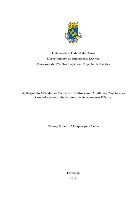 (PDF) Aplicação do Método dos Elementos Finitos como