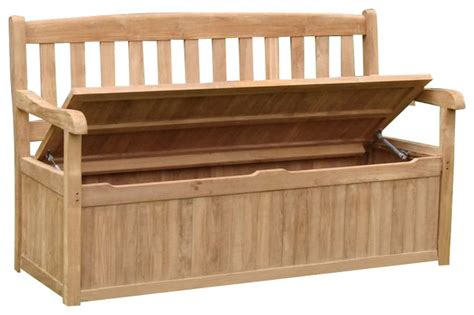 outside bench storage teak devon storage bench 5 feet contemporary outdoor