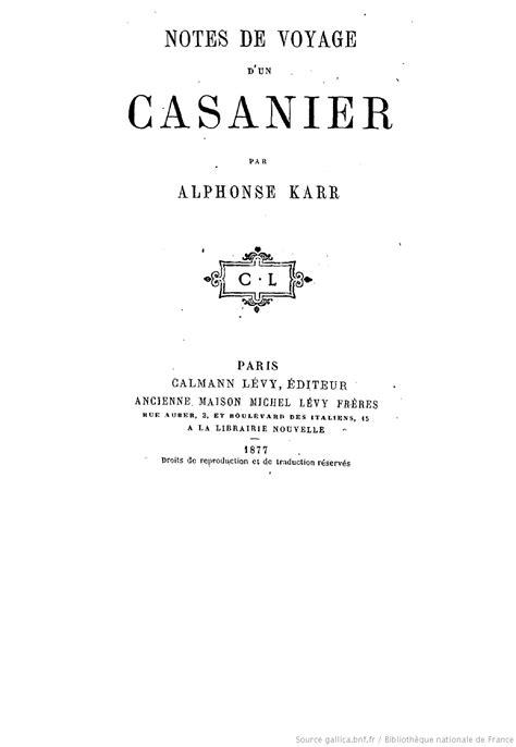 notes de voyage d un casanier par alphonse karr - 128756500x Notes De Voyage D Un Casanier