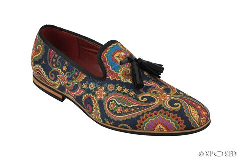 loafer designs mens leather tassel loafer vintage designer style paisley