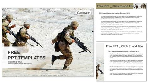 powerpoint templates free military squad of soldiers in the desert powerpoint templates