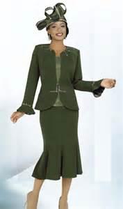 ben marc intl 47220 ladies olive green church suit