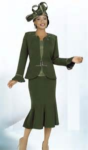 Ben marc intl 47220 ladies olive green church suit french novelty