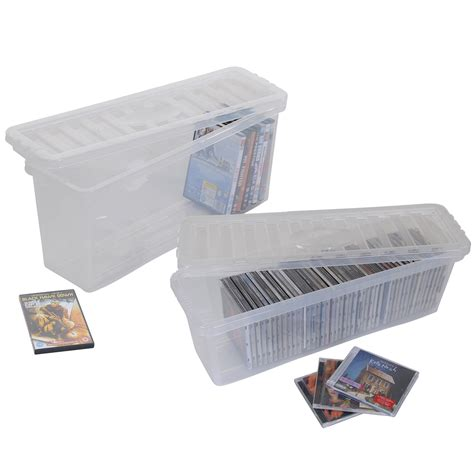 cd storage container plastic cd dvd storage boxes box clear storage containers