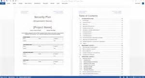Information Security Plan Template by Security Plan Template Technical Writing Tips