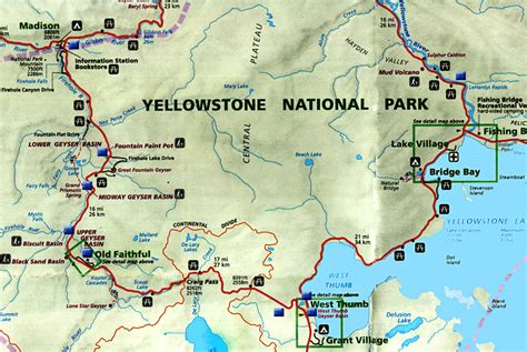 map usa yellowstone park usa yellowstone national park map pictures to pin on