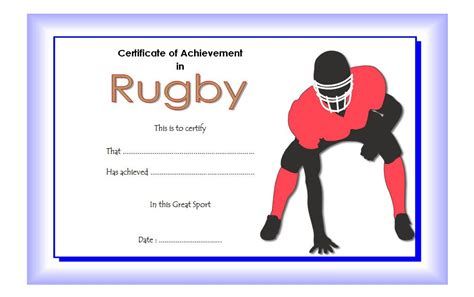 rugby league certificate templates rugby certificate template the best template collection