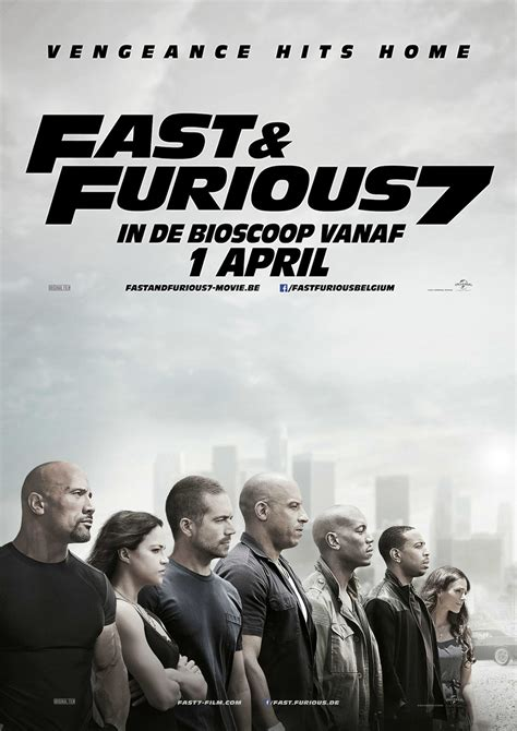 movie poster fast and furious 7 fast furious 7 poster paulwalker vindiesel