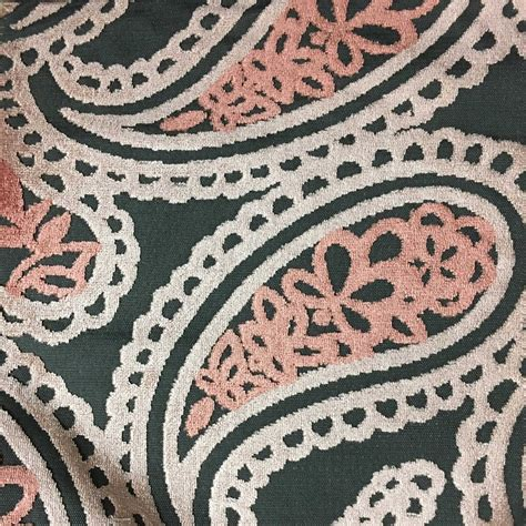 Bold Upholstery Fabric by Cut Velvet Fabric Bold Paisley Pattern Drapery