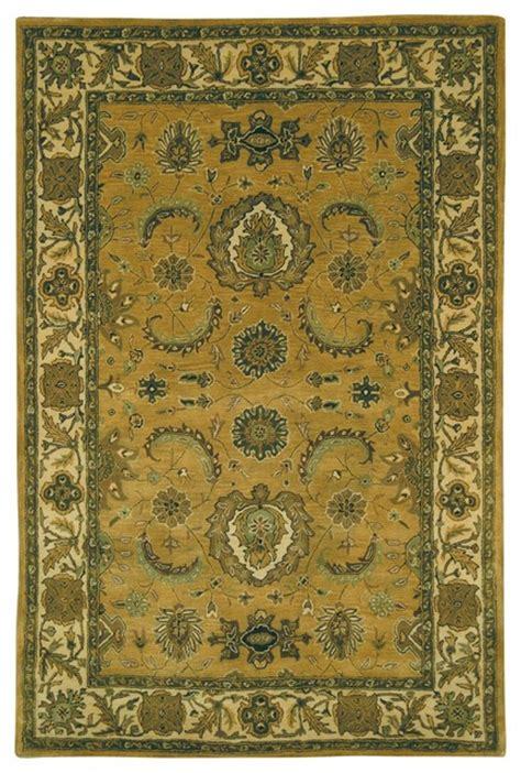 Yellow And Brown Area Rugs Classic Yellow Brown Area Rug Cl314b 4 X 6 Traditional Rugs By Zopalo