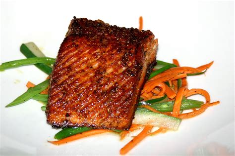 grill seared salmon with vegetables sherlock s home