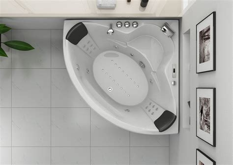 baignoire balneo whirlpool baignoire d angle 2 personnes shanghai baignoire d angle
