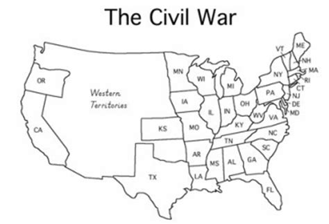 map of the united states before civil war blank map of united states before the civil war
