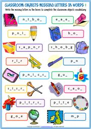 Mainan Edukasi Lets Learn Animals Colours Counting Words classroom objects esl printable worksheets and exercises