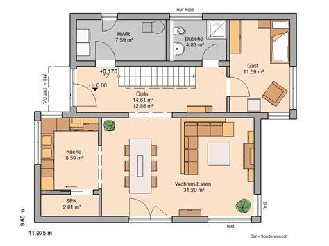 speisekammer grundriss kern haus familienhaus futura pult grundriss erdgeschoss