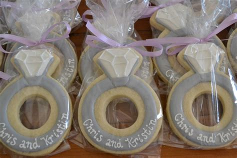 Wedding Ring Cookies by Jackandy Cookies Engagement Ring Cookies