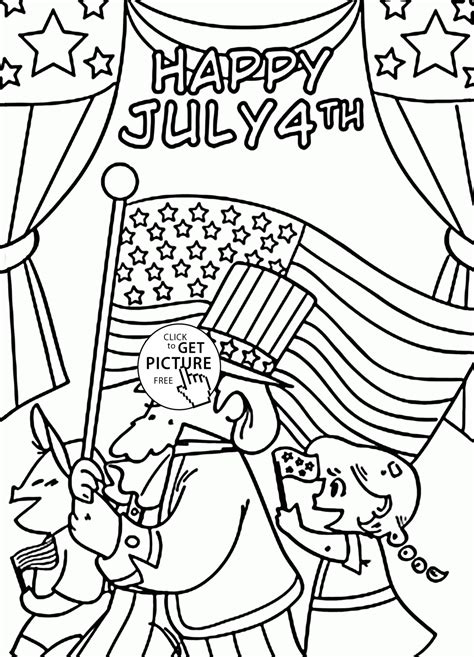 Coloring Pictures For Fourth Of July