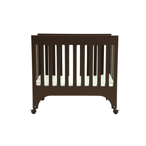 grayson mini crib babyletto grayson mini w pad espresso crib ebay