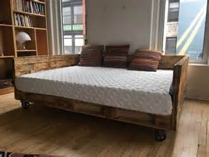 King Daybed Industrial Pallet Daybed On Wheels Available In King