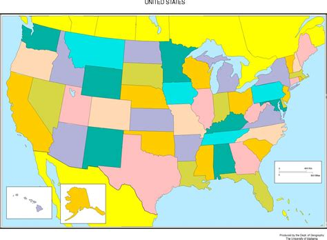 the color of us united states blank map