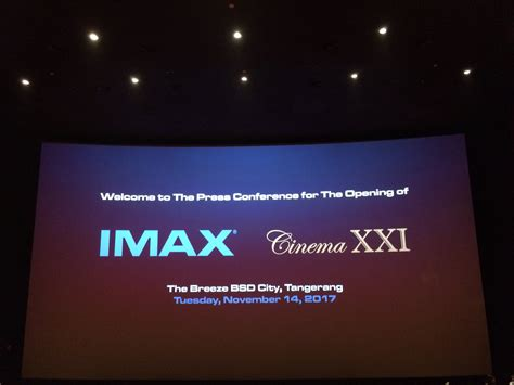 cinema 21 di serpong cinema xxi buka studio imax di the breeze bsd city kincir