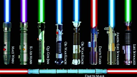 all lightsaber colors and meanings every single lightsaber color meaning explained canon