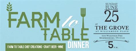 farm to table nashville farm to table dinner presented by cumberland region