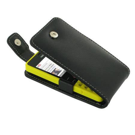 Flip Cover Nokia 210 by Pdair Leather Flip Nokia Asha 210 Black
