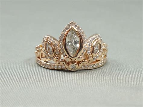 rapunzel gold tiara princess ring tangled crown crystals