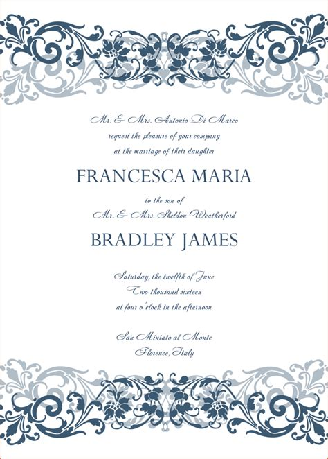 Wedding Invitations Templates Word by 8 Microsoft Word Wedding Invitation Templates