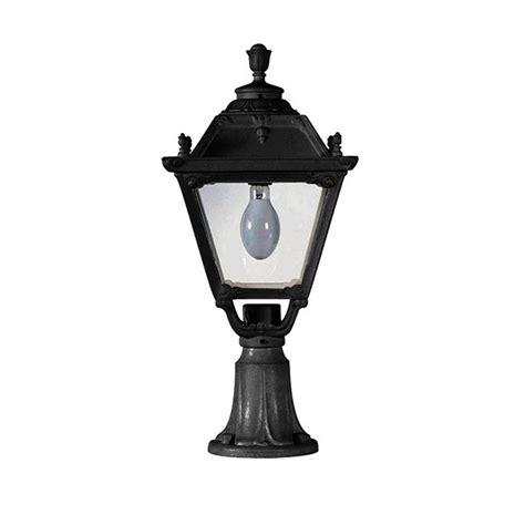 Fumagalli Q33 113 Ax Tobia 700mm Black Pedestal Lantern At Fumagalli Outdoor Lighting