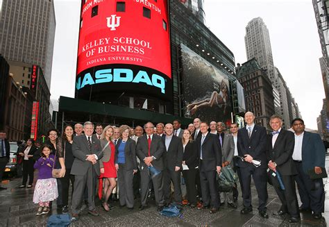 Indiana Kelley Mba Gatekeeper Poetsandwuants by Rick Roethke Closes Nasdaq With Iu Kelley School Of