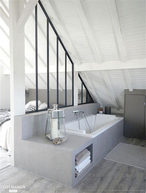 salle de bain dans chambre parentale suite parentale dans les combles 10 design et 3 am 233 nagements