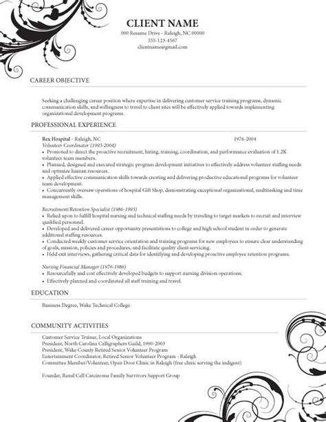 Resume Exles Caregiver Caregiver Professional Resume Templates Healthcare
