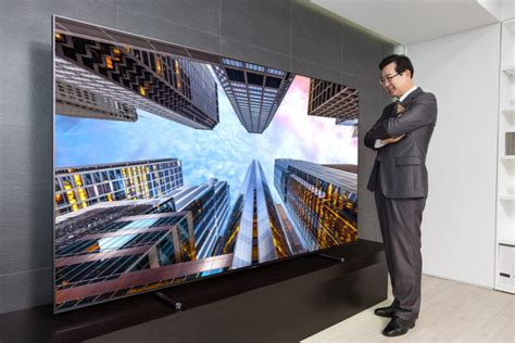 samsung electronics launches 88 inch ultra large qled tv the q9 in america and korea
