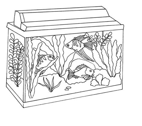 Stylish In Addition To Stunning Fish Tank Coloring Page Fish Tank Coloring Pages