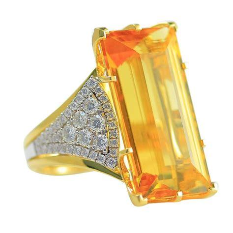 Ct 6 38 Aquamarine Berylmemo frederic 21 64 carat yellow beryl yellow and white gold ring for sale at 1stdibs
