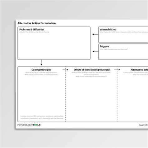 formulation template alternative formulation worksheet pdf psychology