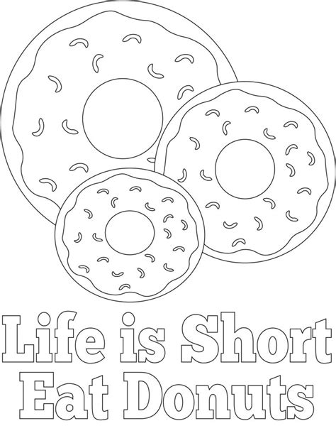 donut coloring page donut coloring pages best coloring pages for