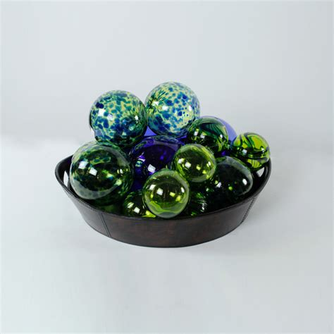 recycled glass balls blown recycled glass 3
