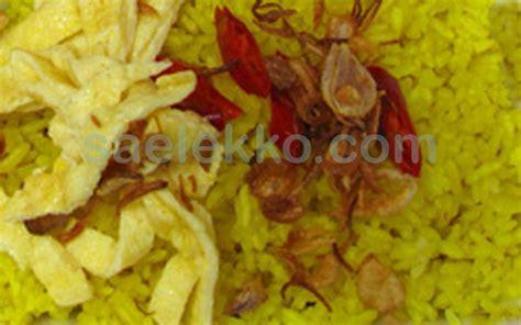cara membuat nasi kuning dan lauknya resep nasi kuning gurih dan cara membuat nasi kuning komplit